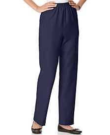 Alfred Dunner Petite Pull-On Straight-Leg Pants