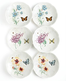Lenox Dinnerware, Set of 6 Butterfly Meadow Party Plates