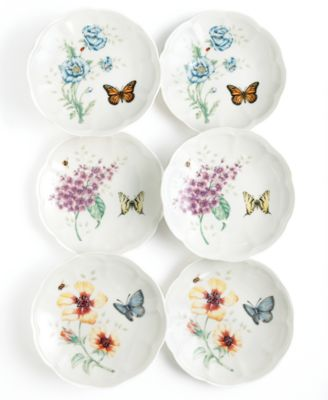 main image  sc 1 st  Macyu0027s & Lenox Dinnerware Set of 6 Butterfly Meadow Party Plates ...