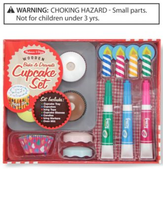 Melissa and Doug Toy, Bake and Decorate Cupcake Set