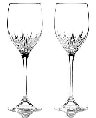 Vera wang wedgwood set of 2 duchesse wine glasses shop all glassware stemware dining - Vera wang stemware ...