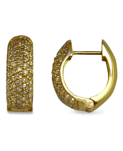 EFFY Collection Trio by EFFY Pave Diamond Earrings in 14k Yellow, Rose, or White Gold (1/2 ct. t.w.)