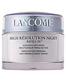 High Résolution Refill-3X Anti-Wrinkle Night Moisturizer Cream, 2.6 oz