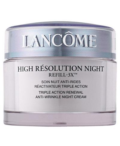 Lancôme High Résolution Refill-3X Anti-Wrinkle Night Moisturizer Cream, 2.6 oz