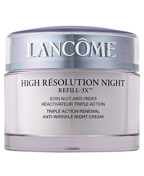 Lancome High Résolution Refill-3X Anti-Wrinkle Night Moisturizer Cream, 2.6 oz