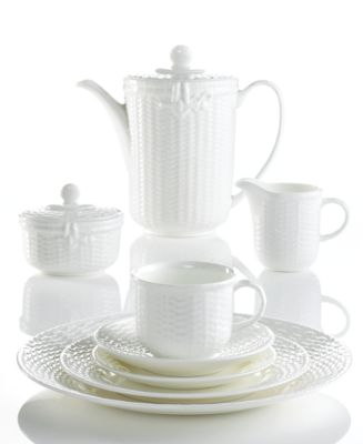 Set your table with the handcrafted charm of the Nantucket Basket dinnerware and dishes collection from Wedgwood. White bone china embossed with an ...  sc 1 st  Macyu0027s & Wedgwood Dinnerware Nantucket Basket Collection - Fine China - Macyu0027s