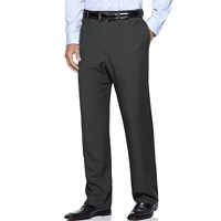 Haggar Men's Eclo Stria Classic Fit Flat Expandable Dress Pants