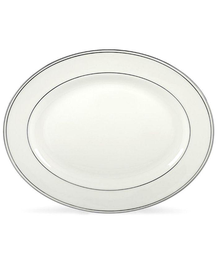 "Lenox - ""Federal Platinum"" Oval Platter, 13"""