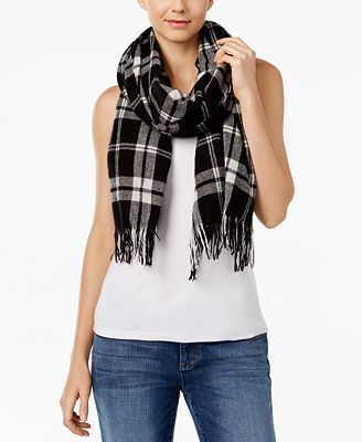 eileen fisher wool plaid scarf macy s