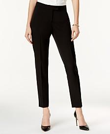 Anne Klein Crepe Bowie Slim-Fit Pants