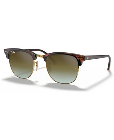 Ray-Ban Sunglasses, RB3016 51 CLUBMASTER GRADIENT MIRRORED