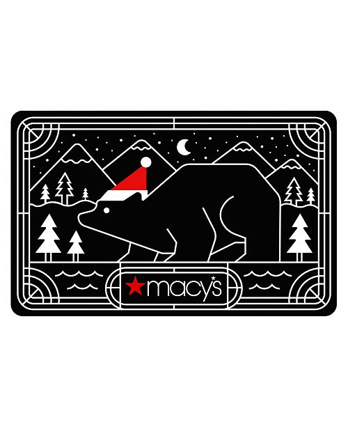 Macy's Polar Cheer Gift Card with Letter