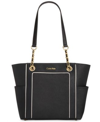 Image of Calvin Klein Hayden Saffiano Leather Tote