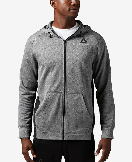 100e6710 Reebok Men's Speedwick Zip Hoodie & Reviews - Hoodies & Sweatshirts ...