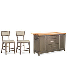 Rachael Ray Highline  Home Kitchen Island 3-Pc. Set