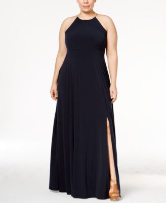 MICHAEL Michael Kors Plus Size Braided Halter Maxi Dress