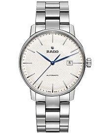 Rado Unisex Swiss Automatic Coupole Classic Stainless Steel Bracelet Watch 41mm R22876013