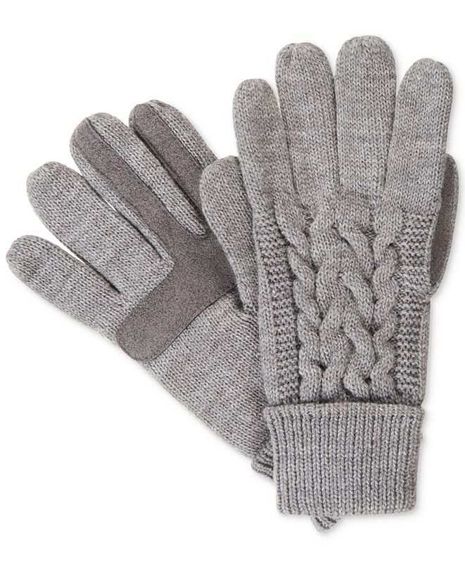 Isotoner Signature Isotoner Women's Solid Triple Cable Knit SmarTouch® Gloves