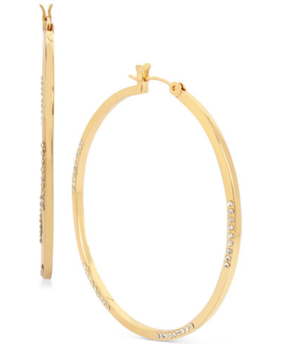 Touch of Silver Gold-Plated Hoop Earrings