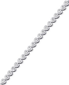 Diamond Heart Link Bracelet (1/4 ct. t.w.)