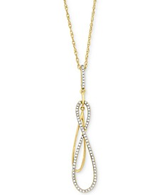 in Love™ Diamond Double Infinity Pendant Necklace (1/6 ct. t.w.) in 14k Gold, Created for Macy's