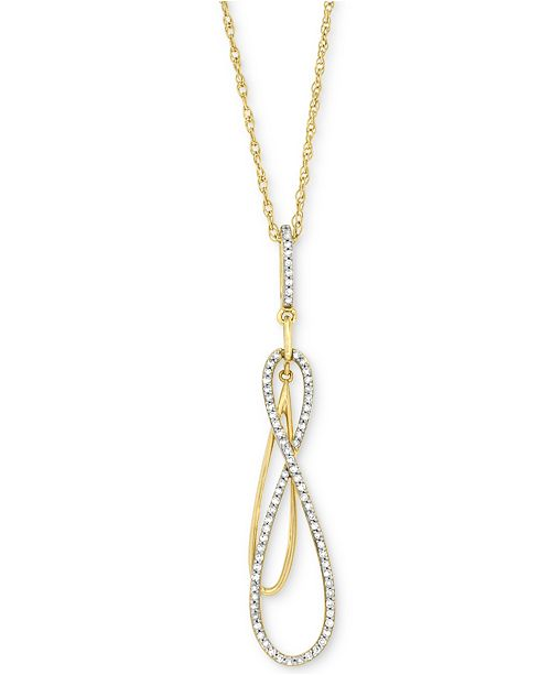 Wrapped in love diamond double infinity pendant necklace 16 ct main image aloadofball Image collections