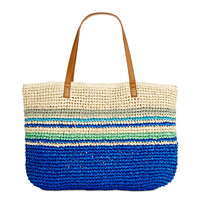 Style & Co Stripe Straw Beach Bag Tote