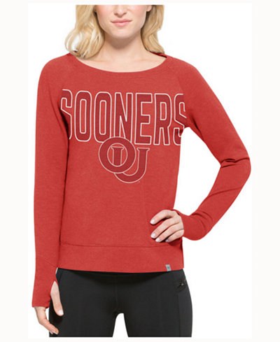 '47 Brand Women's Oklahoma Sooners React Raglan Long Sleeve T-Shirt