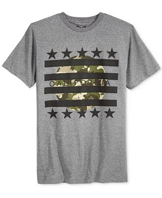 Univibe Men's California Camo Stripes Graphic-Print T-Shirt