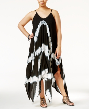 Raviya Plus Size Tie-Dye Handkerchief-Hem Cover-Up Dress Women's Swimsuit plus size,  plus size fashion plus size appare