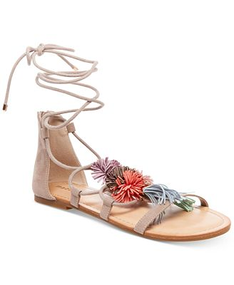 Madden Girl Sofun Lace-Up Tassel Sandals