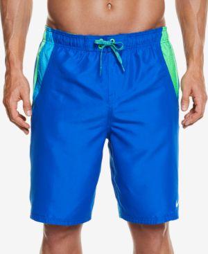 Nike Men's Side Striped Water Shedding Swim Trunks, 9 2937830