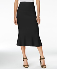 RACHEL Rachel Roy Jacquard Midi Skirt, Created for Macy's