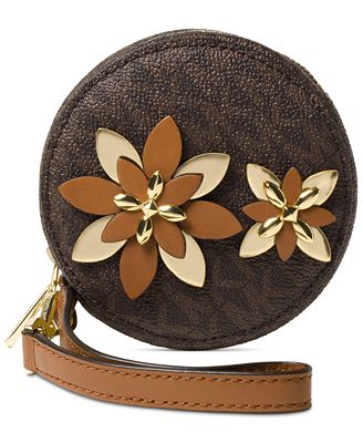 michael michael kors flowers pouches small coin purse handbags accessories macy 39 s. Black Bedroom Furniture Sets. Home Design Ideas