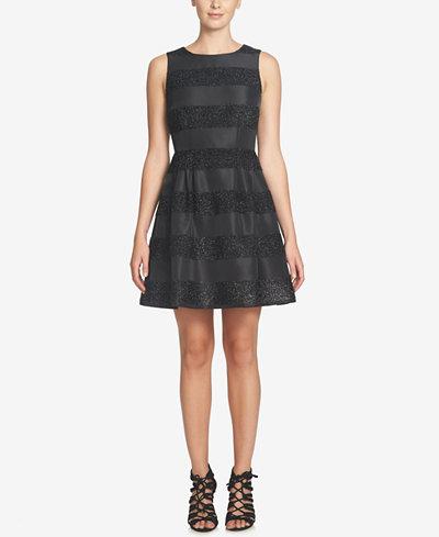 Cece Claiborne Striped Fit Amp Flare Dress Dresses Women