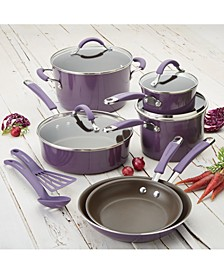 Cucina Hard Enamel Nonstick 12-Piece Cookware Set