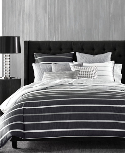 CLOSEOUT! Hotel Collection Colonnade Dusk King Duvet Cover, Created for Macy's