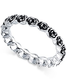Unwritten Sterling Silver Rosebud Band
