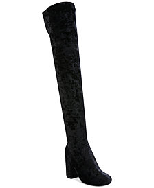 Carlos by Carlos Santana Rumor Velvet Block-Heel Over-The-Knee Boots