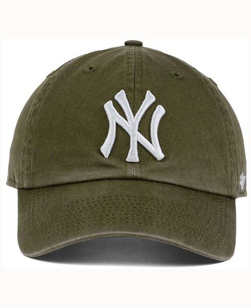 f891cbf0 47 Brand New York Yankees Olive White CLEAN UP Cap & Reviews ...