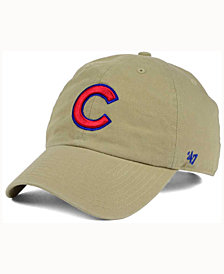 '47 Brand Chicago Cubs Khaki Clean UP Cap
