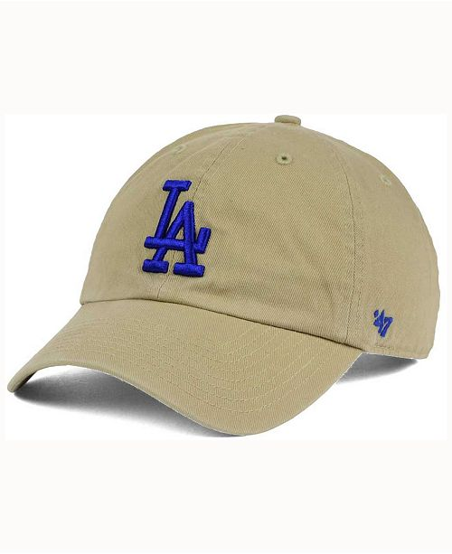check out c0384 13156 ...  47 Brand Los Angeles Dodgers Khaki Clean UP Cap    ...