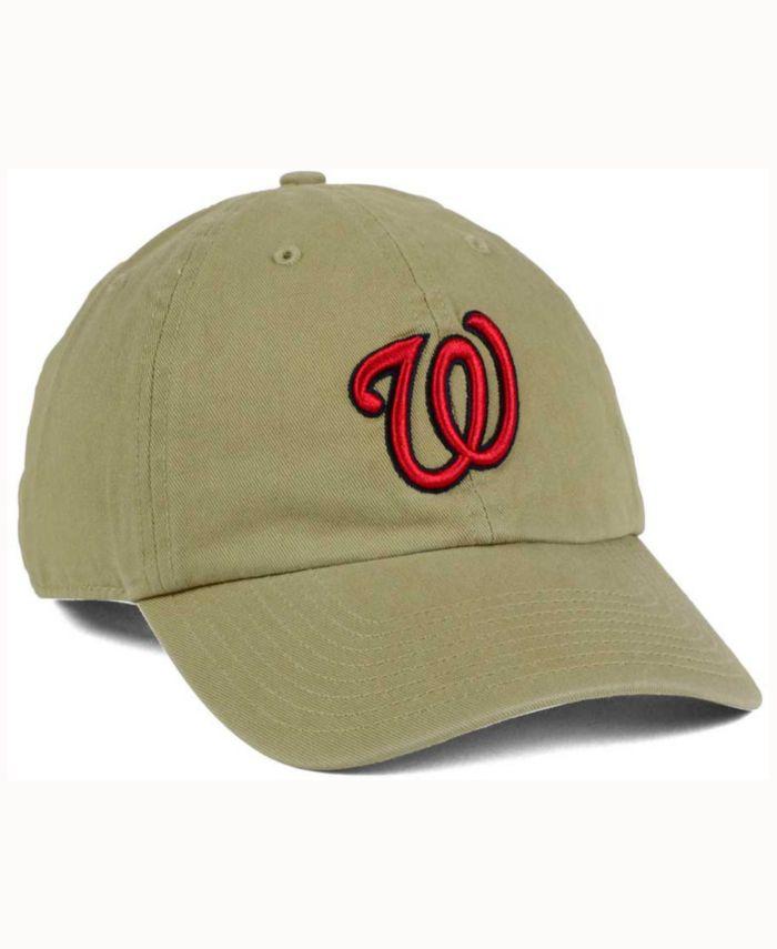 '47 Brand Washington Nationals Khaki Clean UP Cap & Reviews - Sports Fan Shop By Lids - Men - Macy's