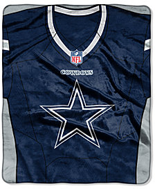 Northwest Company Dallas Cowboys Jersey Plush Raschel Throw