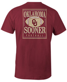 Image One Men's Oklahoma Sooners Distressed Football T-Shirt