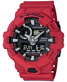 Men's Analog-Digital Red Resin Strap Watch 53x58mm GA700-4A