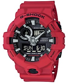 G-Shock Men's Analog-Digital Red Resin Strap Watch 53x58mm GA700-4A
