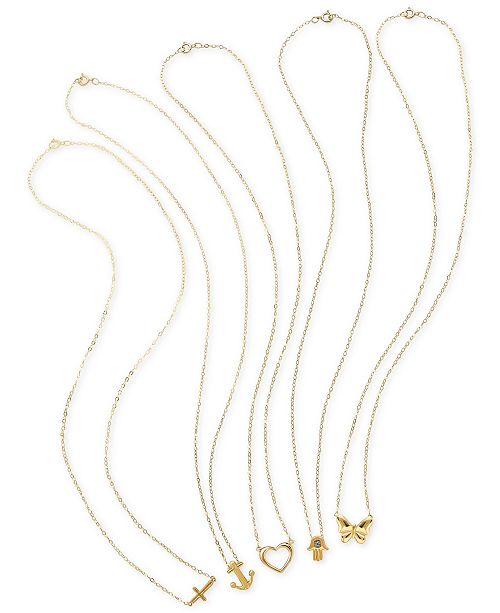 Macy's Teeny Tiny Pendant Necklace Collection in 10k Gold