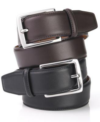 Lauren Ralph By Leather Dress Belt All Accessories Men Macy S