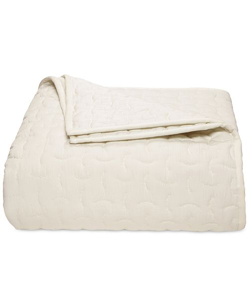 Hotel Collection CLOSEOUT! Connection Indigo Quilted King Coverlet, Created for Macy's
